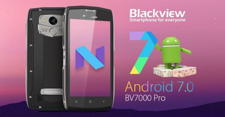 Тонкий защищенный смартфон Blackview BV7000 Pro работает на Android 7