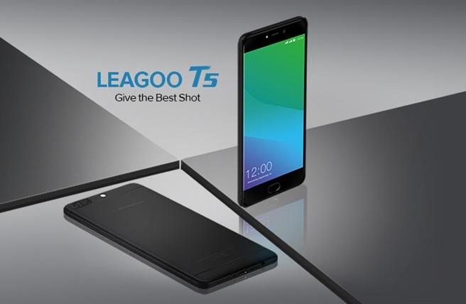 Leagoo предлагает купон на $50 для покупки смартфона T5 с двойной камерой