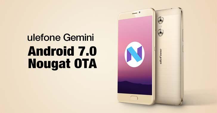В ближайшие дни Ulefone Gemini начнет получать Android 7.0