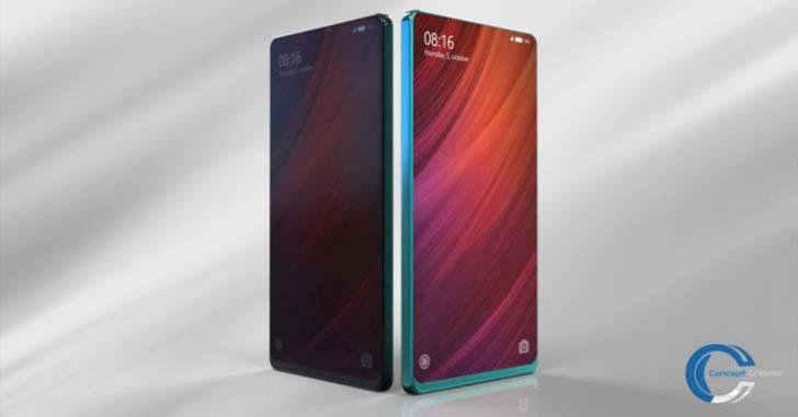 Опубликованы 3D-рендеры безрамочного Xiaomi Mi Mix 2 от Concept Creator