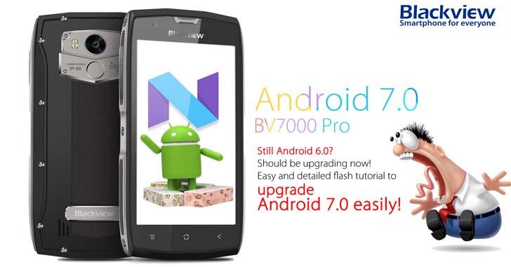 Blackview BV7000 Pro начал получать Android 7.0 Nougat