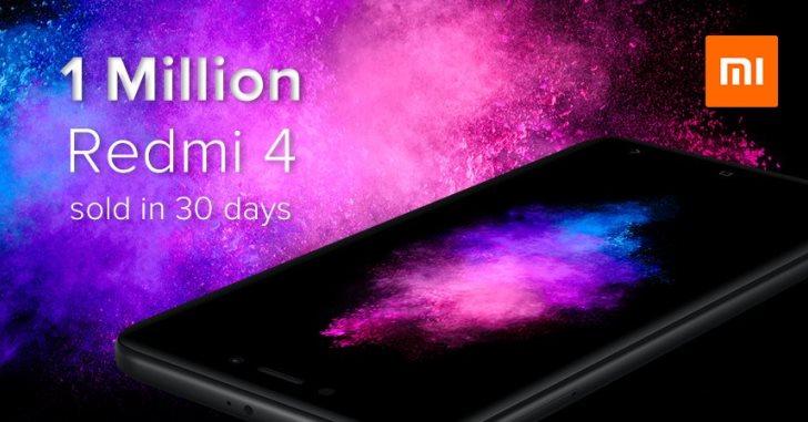 Xiaomi за месяц продала миллион Redmi 4 в Индии