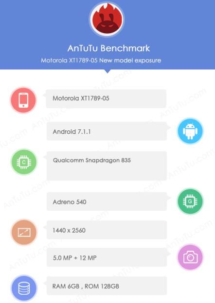 Moto Z2 Force замечен в AnTuTu