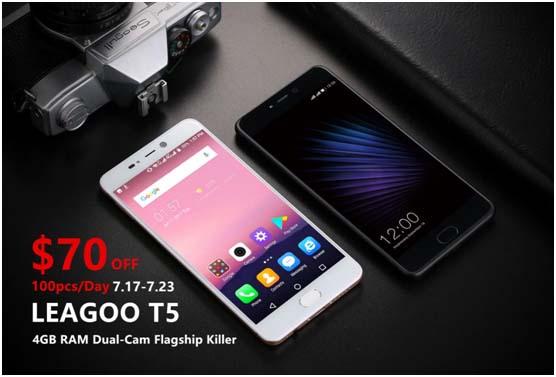 Leagoo T5 с двойной камерой до 23 июля можно купить со скидкой $70