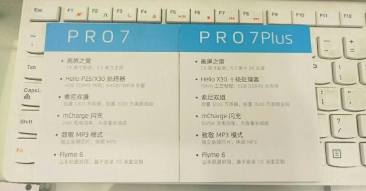 Свежая утечка раскрыла основные характеристики Meizu Pro 7 и Pro 7 Plus