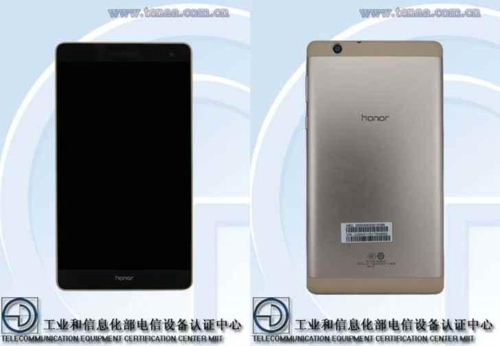 В TENAA замечен ранее неизвестный планшет Honor