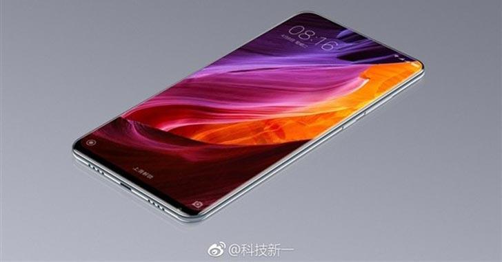 Свежие рендеры безрамочного Xiaomi Mi Mix 2 опубликованы в Сети