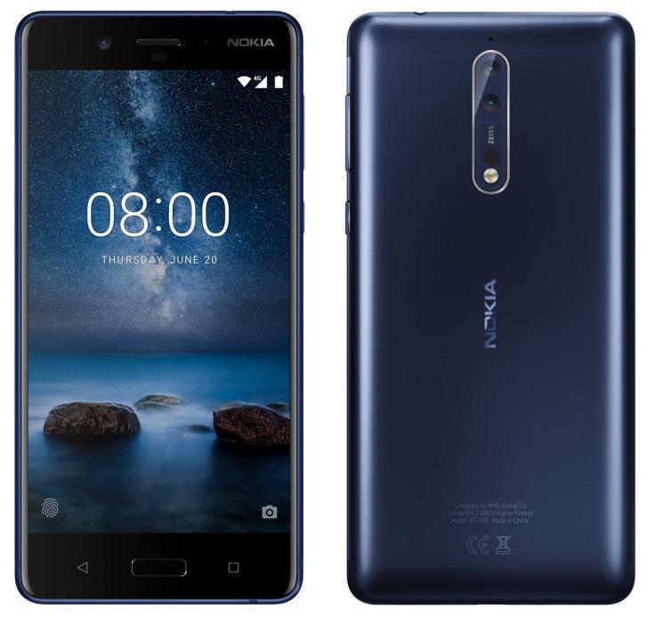 Представлен флагманский смартфон Nokia 8