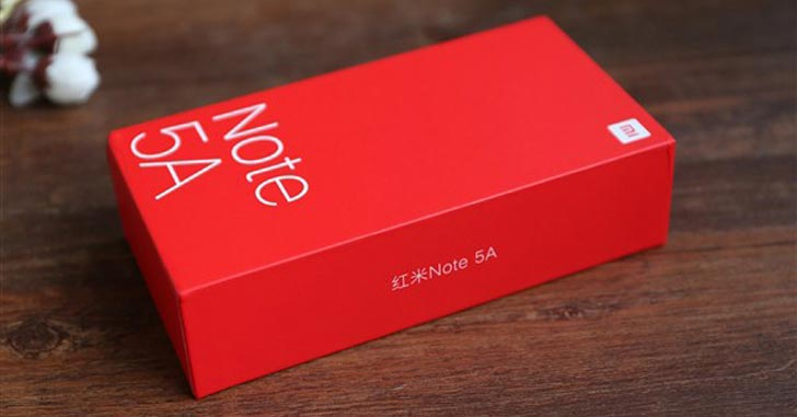 Распаковку и внешний вид Xiaomi Redmi Note 5A показали на фото