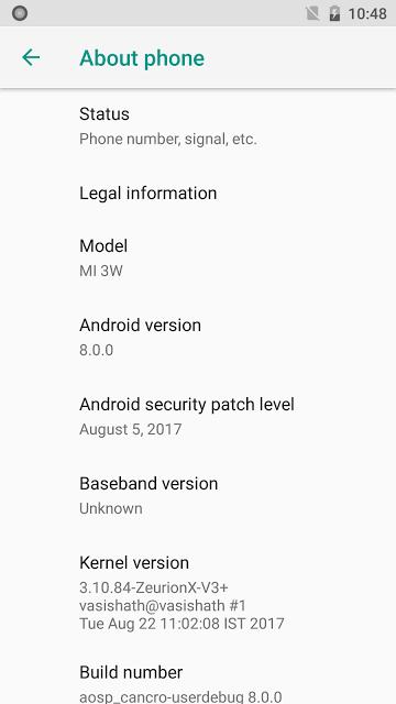 Удалось портировать Android 8.0 Oreo на смартфон Xiaomi Mi3