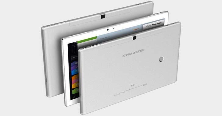 В продаже появился 10-дюймовый планшет Teclast T10 с дактилоскопическим сканером