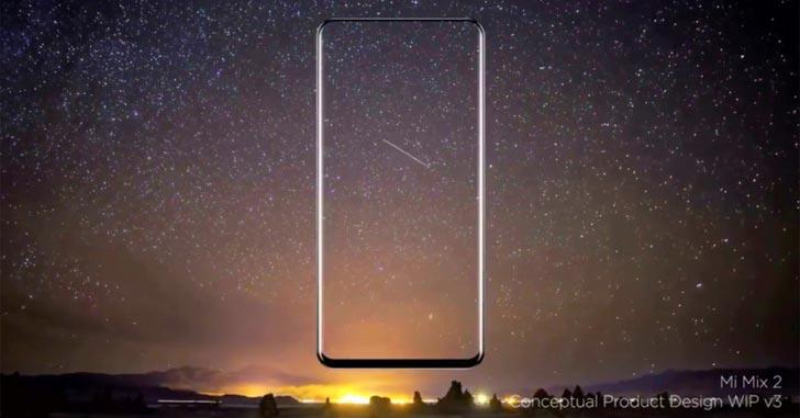 Безрамочный Xiaomi Mi Mix 2 будет анонсирован 11 сентября