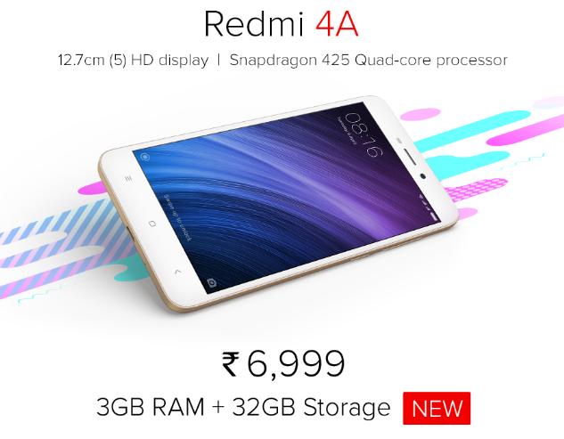 Для Индии сделали продвинутый вариант Xiaomi Redmi 4A