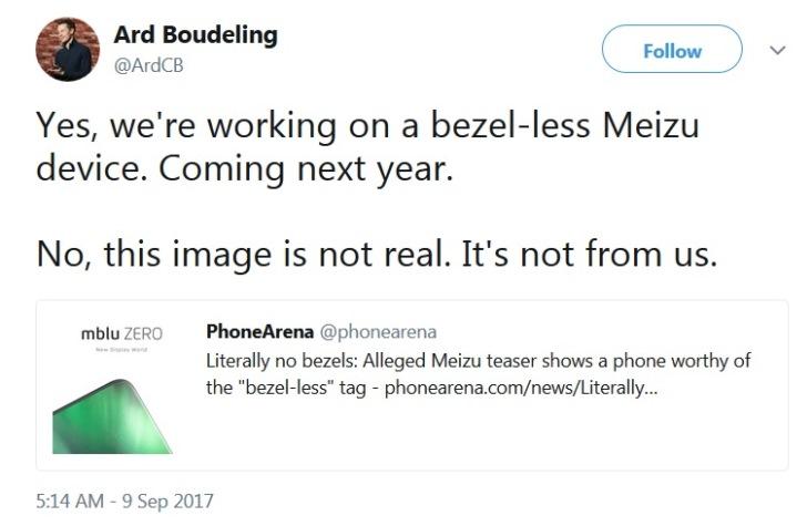 Представители Meizu: безрамочный смартфон будет, но тизер – подделка