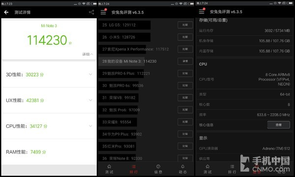 Смартфоны Xiaomi Mi Mix 2 и Mi Note 3 протестировали в AnTuTu