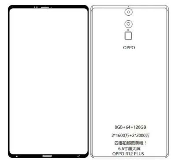 Смартфон Oppo R13 получит полностью безрамочный дисплей