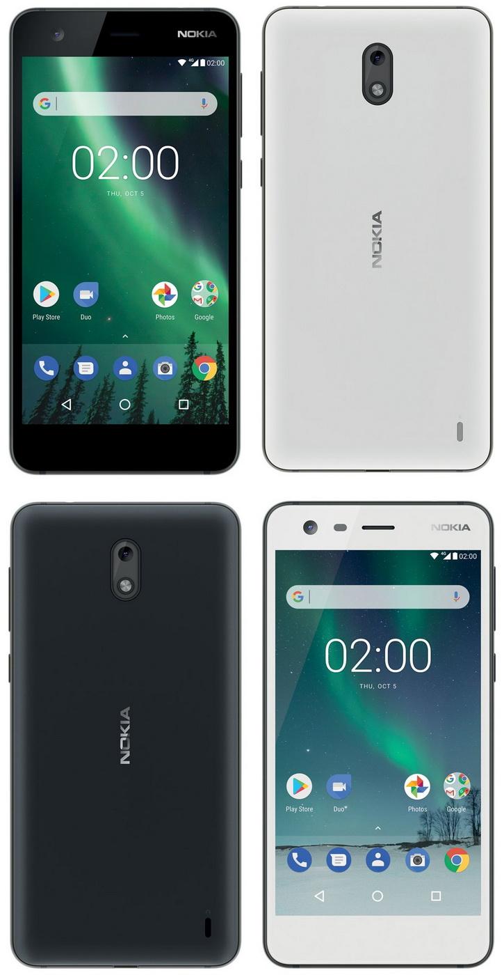 Черный и белый Nokia 2 показали на рендерах
