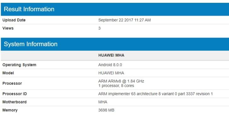 Huawei Mate 9 скоро может получить Android Oreo