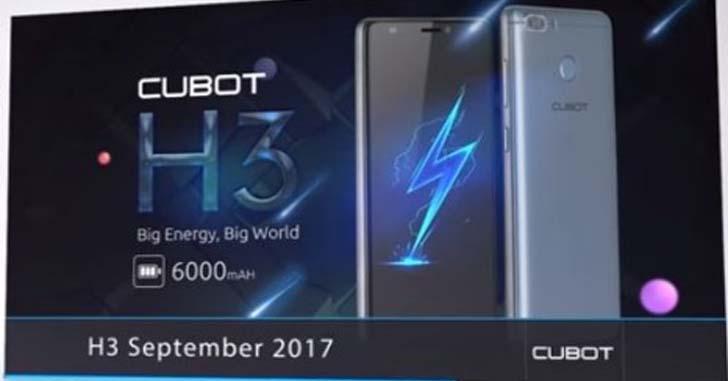 Смартфон Cubot H3 с ёмким аккумулятором поступил в продажу