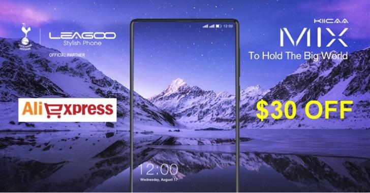 Leagoo предлагает сэкономить $30 при покупке смартфона KIICAA MIX