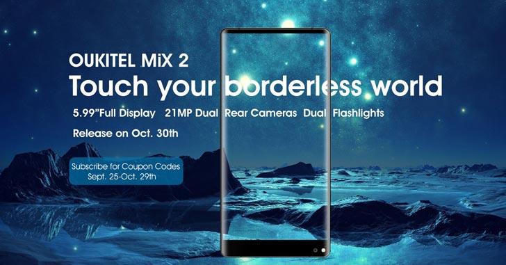 Новый смартфон Oukitel Mix 2 сравнили с Xiaomi Mix 2