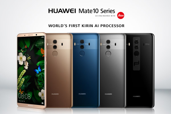 Флагманские Huawei Mate 10 и Mate 10 Pro официально представлены
