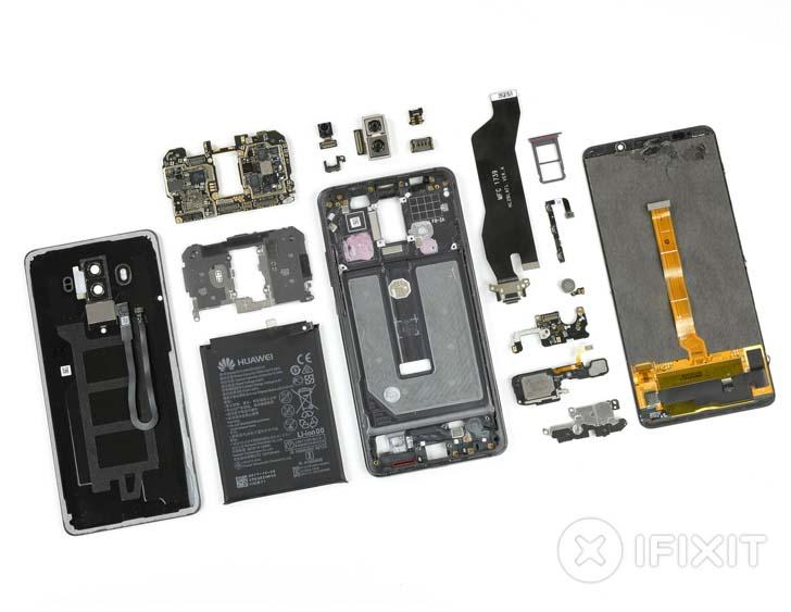 Специалисты из iFixit разобрали Huawei Mate 10 Pro