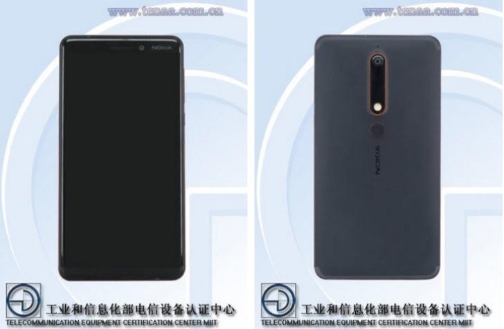 В TENAA замечен Nokia 6 (2018)