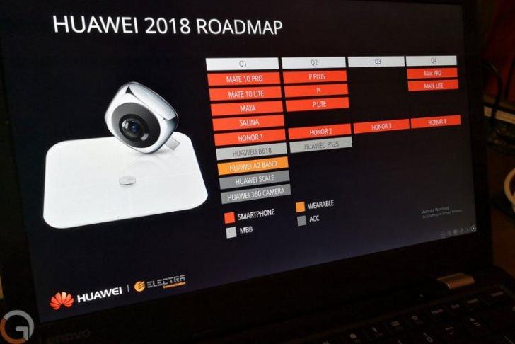 В сеть попала дорожная карта Huawei 2018