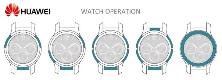 Huawei получила патент на умные часы с сенсорным безелем