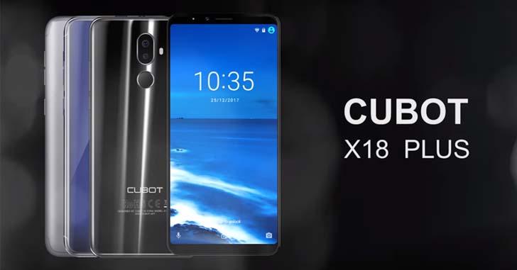 Cubot X18 Plus оснастят 5,99-дюймовым дисплеем с соотношением сторон 18:9
