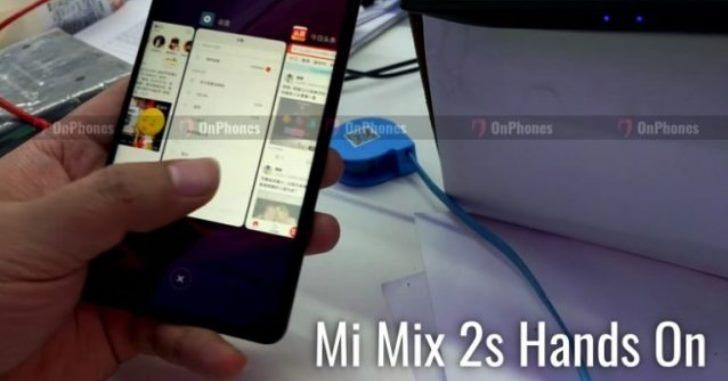 Xiaomi Mi Mix 2S попал на видео
