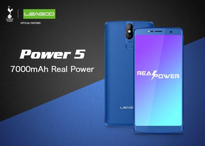 Анонсирован Leagoo Power 5 с аккумулятором на 7000 мАч