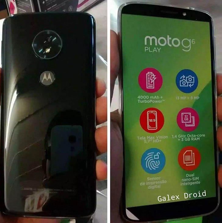 Смартфон Moto G6 Play не получит двойную тыльную камеру