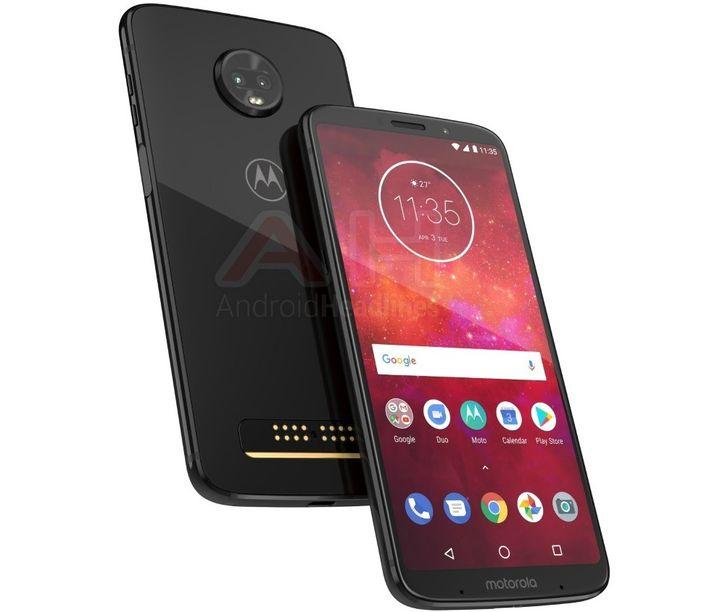 Новое рендеры смартфона Moto Z3 Play опубликовали в Сети