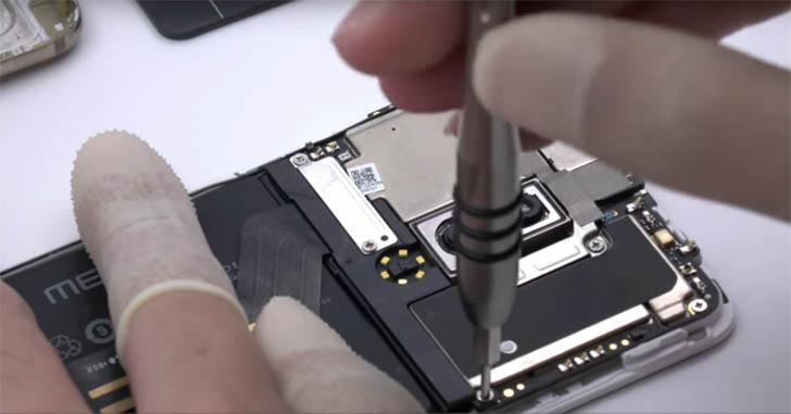Процесс разборки смартфона Meizu 15 показали на видео
