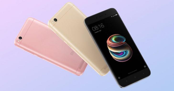 Xiaomi Redmi 5A попал в пятерку самых продаваемых смартфонов