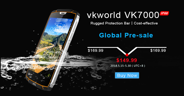 Начался предзаказ защищенного смартфона Vkworld VK7000