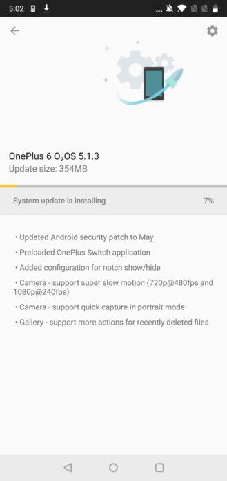 Флагманский смартфон OnePlus 6 поддерживает Project Treble