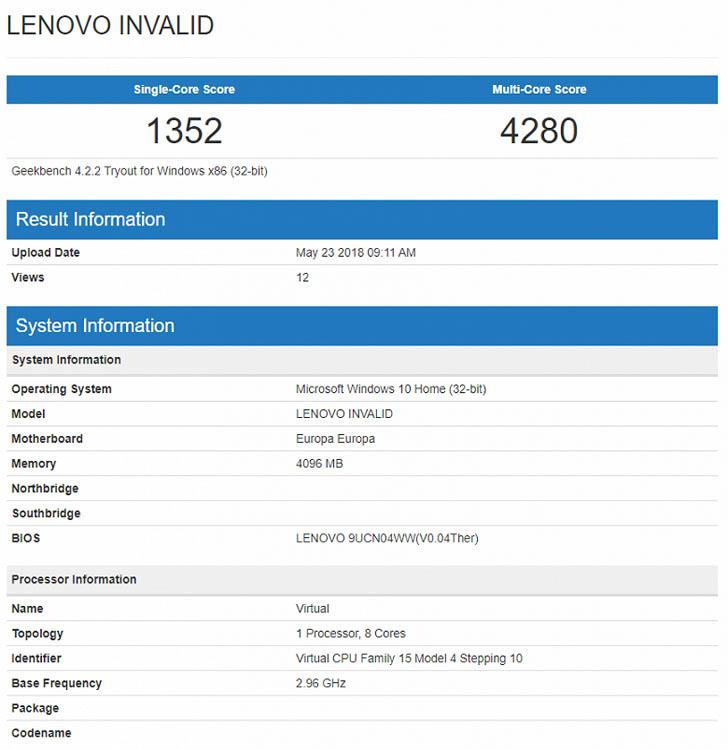 Компания Lenovo готовит ноутбук на чипе Snapdragon 845