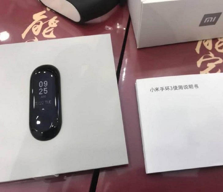 "В Сети опубликовали ""живое"" фото Xiaomi Mi Band 3"
