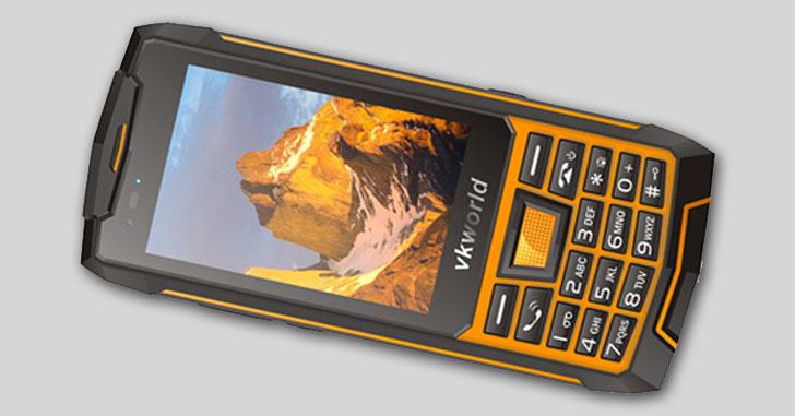 Vkworld VK4000 - кнопочный Android-смартфон с беспроводной зарядкой