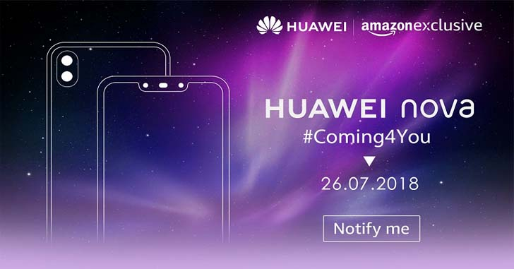 Смартфоны Huawei Nova 3 и Nova 3i представят 26 июля