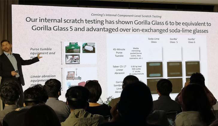 Corning представила защитное стекло Gorilla Glass 6