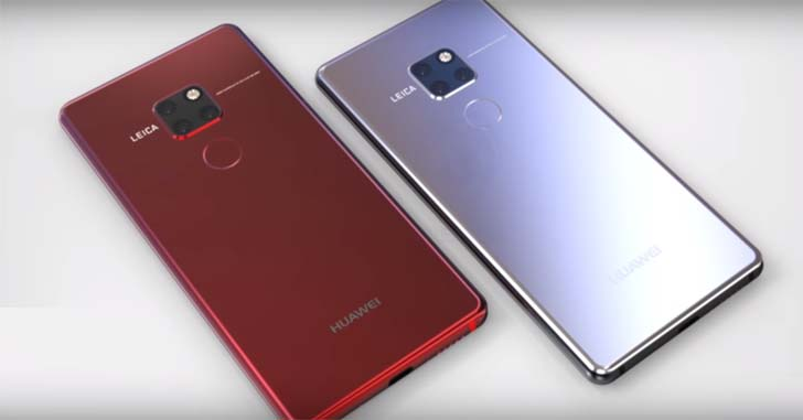 Еще не представленные Huawei Mate 20 и Mate 20 Pro на видео