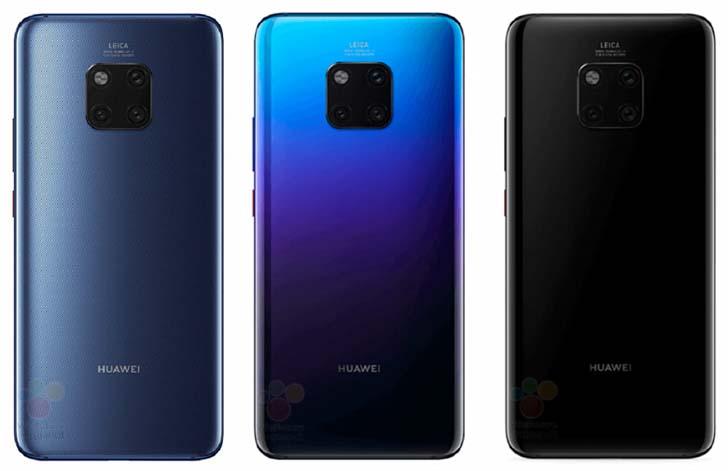 Дисплей Huawei Mate 20 будет больше, чем у Mate 20 Pro