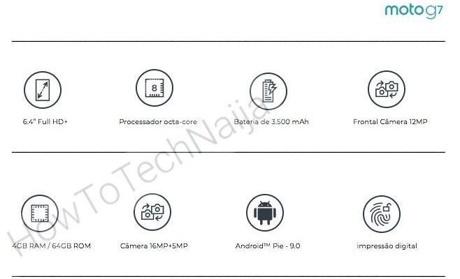 Стали известны характеристики смартфона Moto G7
