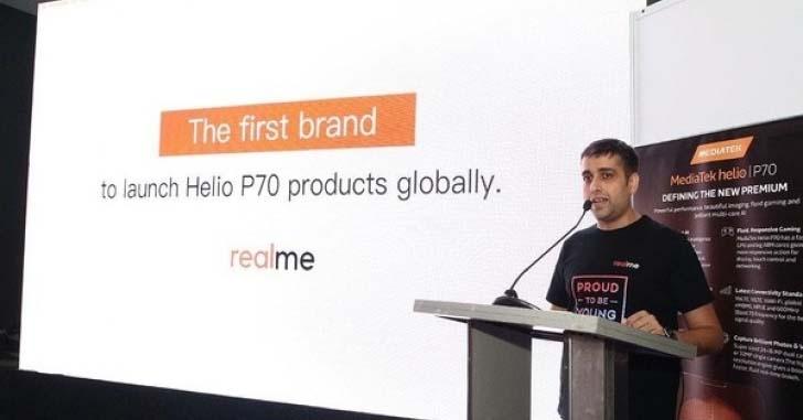 Realme первой выпустит смартфон на платформе Helio P70