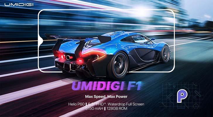 Смартфон Umidigi F1 получит платформу Mediatek Helio P60