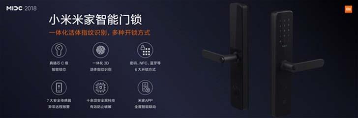 Новый умный замок Xiaomi имеет шесть методов разблокировки